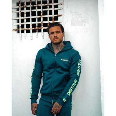 Foto van Malelions Jorden Santos Tracksuit Navy Neon Green