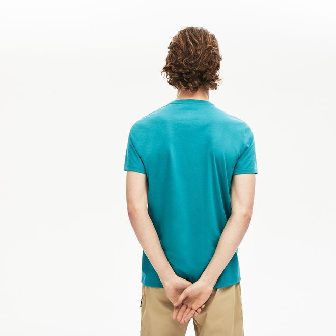 Afbeelding van Lacoste T-shirt met Ronde Hals Blue