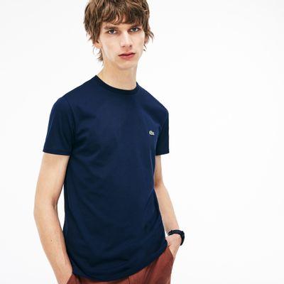 Foto van Lacoste T-shirt met Ronde Hals Navy