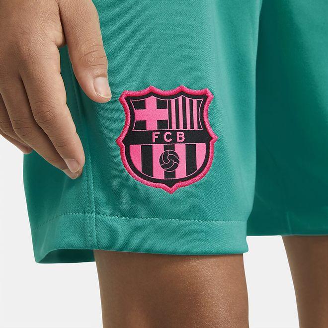 Afbeelding van FC Barcelona 2020/21 Stadium Derde Voetbalshort Kids New Green