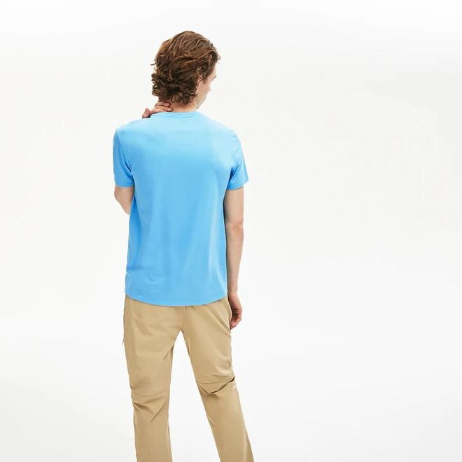 Afbeelding van Lacoste T-shirt met Ronde Hals Lichtblauw