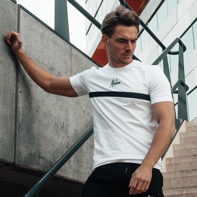 Afbeelding van Malelions Shirt T-Tonny 2.0 White Black