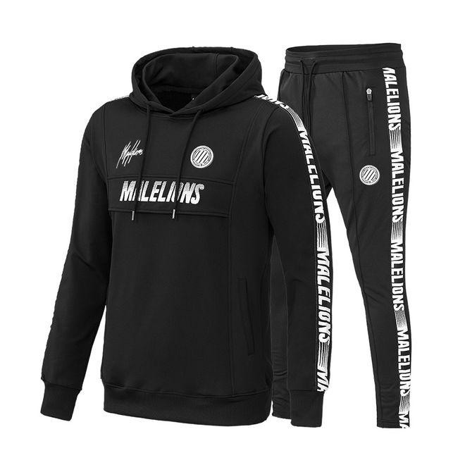Afbeelding van Malelions Sport Tracksuit Warming Up Black/White