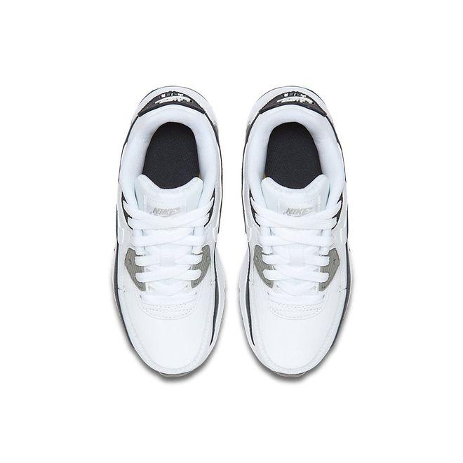 Afbeelding van Nike Air Max 90 Leather Kids White Grey