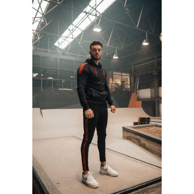 Afbeelding van Malelions Sport Striker Hoodie Set Black Neon Red