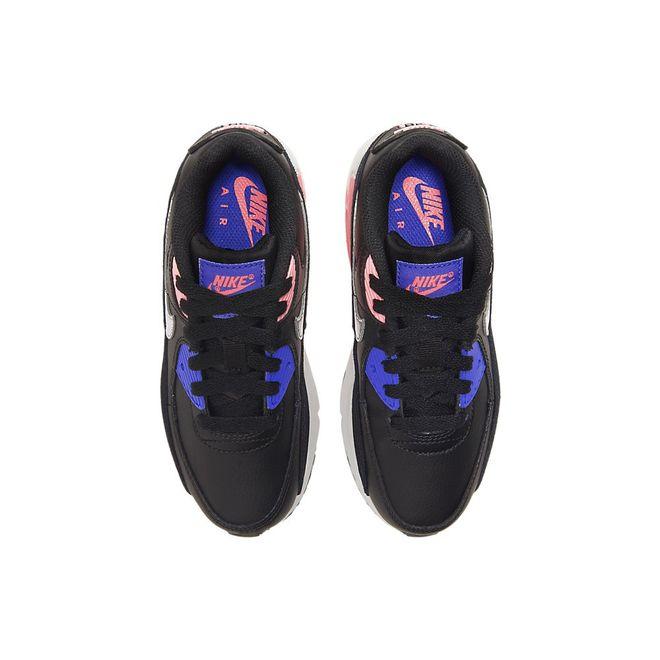 Afbeelding van Nike Air Max 90 Leather Kids Black Sunset Pulse