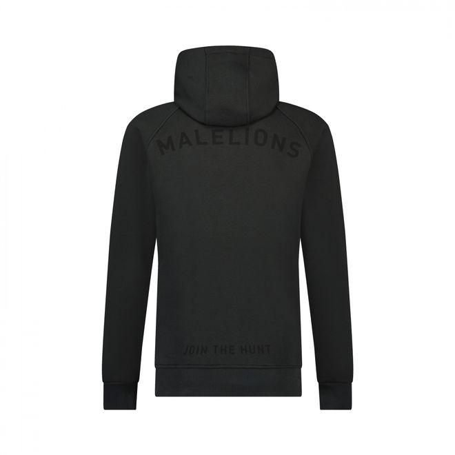 Afbeelding van Malelions Half Zip Hoodie Antraciet