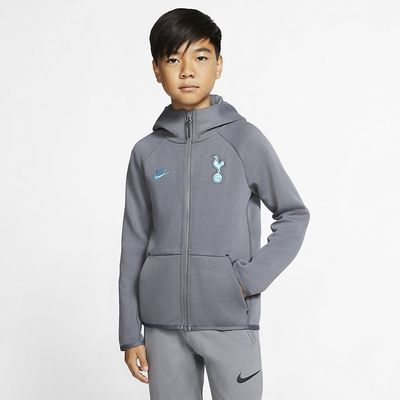 Foto van Tottenham Hotspur Tech Fleece Essentials Set Kids Flint Grey