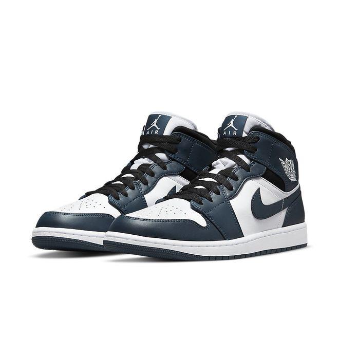 Afbeelding van Nike Air Jordan 1 Mid Black Amory Navy