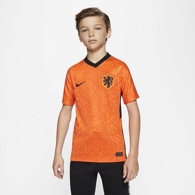 Foto van Nederlands Elftal Thuisshirt Kids Oranje