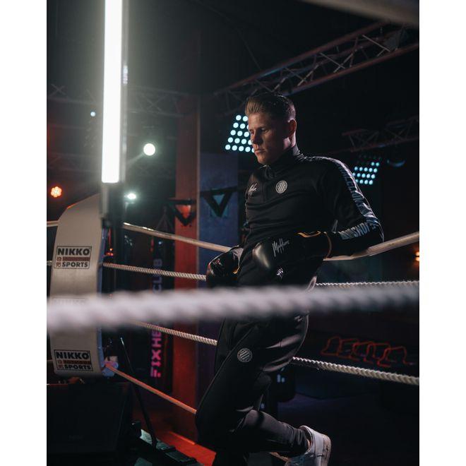 Afbeelding van Malelions Sport Quarterzip Tracksuit Black/White