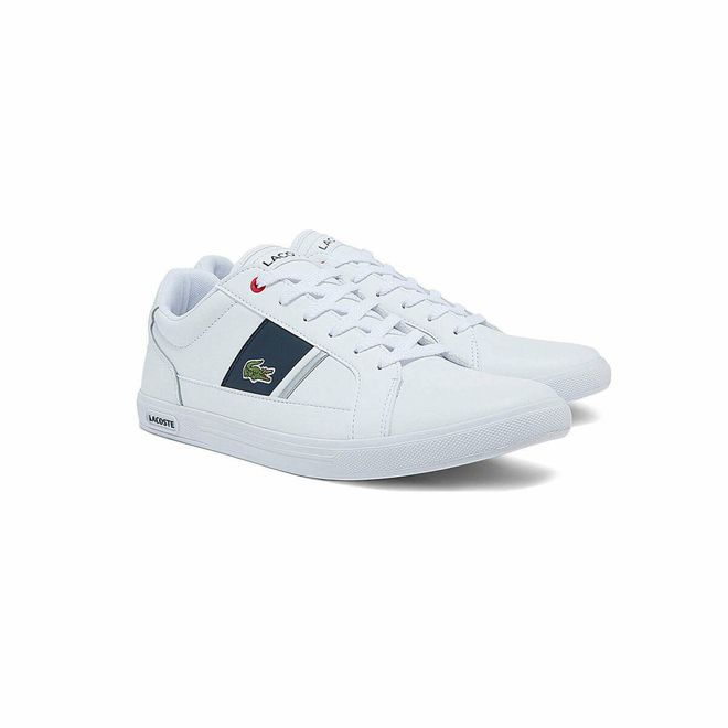 Afbeelding van Lacoste Europa 0121 Sneaker White Navy Red