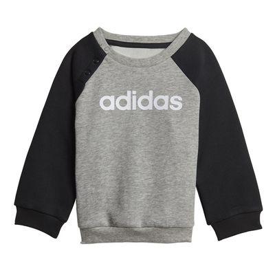 Foto van Adidas Linear Fleece Joggingpak Infants Medium Grey