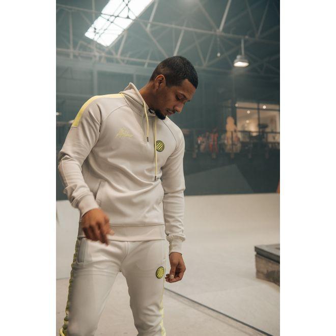 Afbeelding van Malelions Sport Striker Hoodie Set Grey Lime