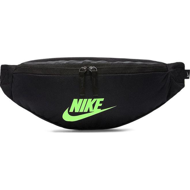 Afbeelding van Nike Sportswear Heritage heuptas Zwart-Lime