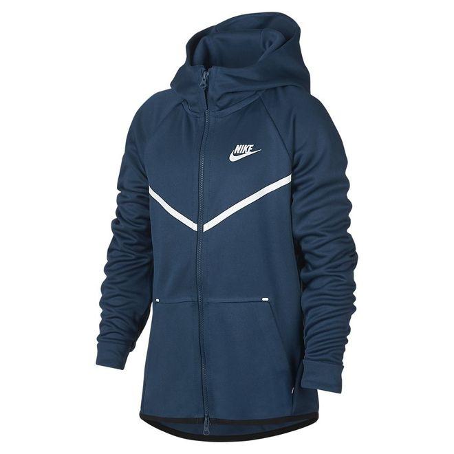 Afbeelding van Nike Sportswear Tech Fleece Hoodie Kids Blue Force