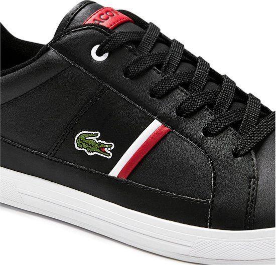 Afbeelding van Lacoste Europa 0120 Sneaker Black White