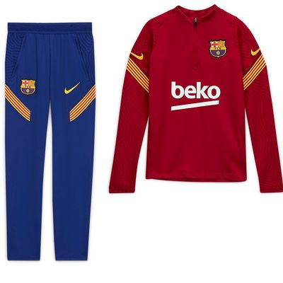 Foto van FC Barcelona Dri-FIT Strike Drill Set Kids Noble Red