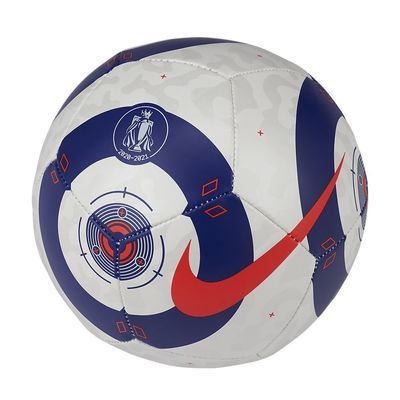 Foto van Nike Premier League Strike Mini Voetbal White Blue Laser Crimson