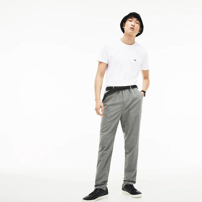 Afbeelding van Lacoste T-shirt met Ronde Hals Wit