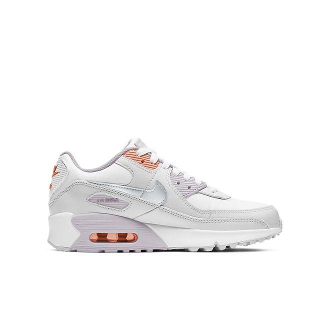 Afbeelding van Nike Air Max 90 Kids Leather White Metalic Platinum