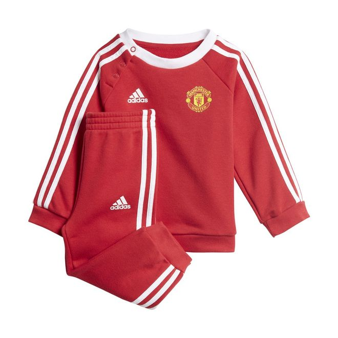 Afbeelding van Manchester United 3-Stripes Baby Joggingpak Real Red
