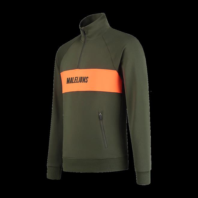 Afbeelding van Malelions Sport Uraenium Tracksuit Army Neon Orange