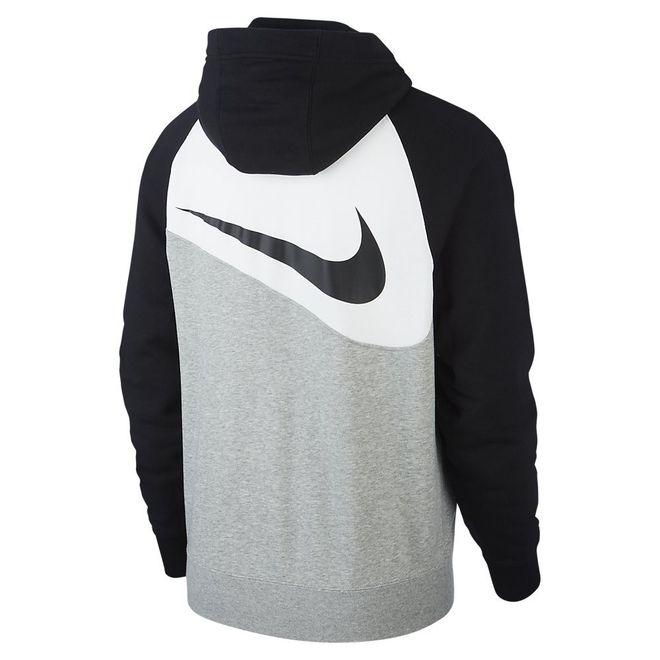 Afbeelding van Nike Sportswear Swoosh Hoodie FZ FT Dark Grey Heather
