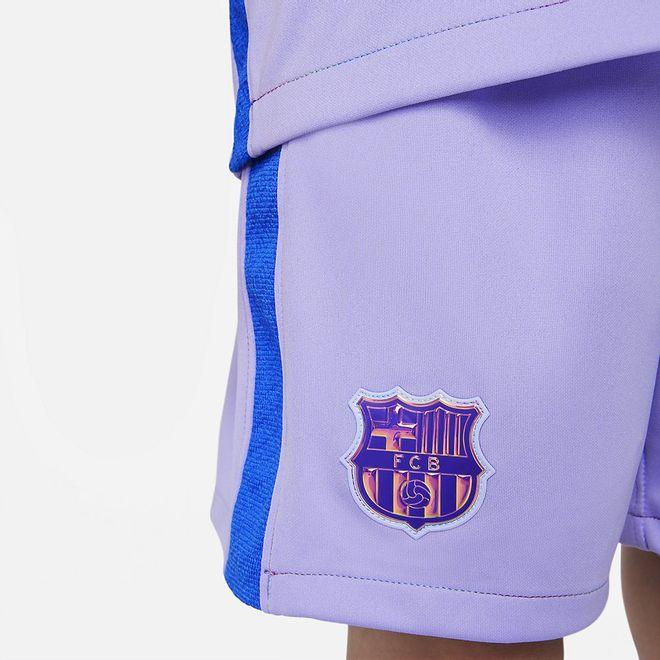 Afbeelding van FC Barcelona voetbal Tenue voor Kleuters 2021/22 Away Purple Pulse