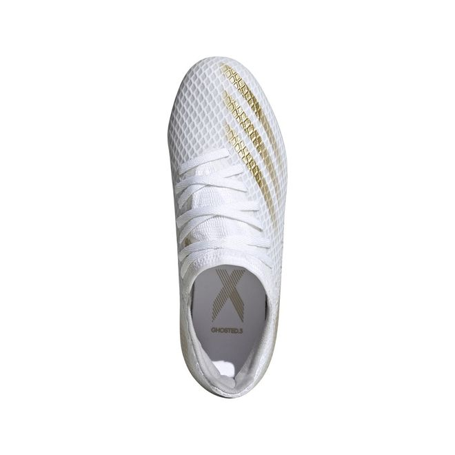 Afbeelding van Adidas X Ghosted 3 FG Kids White Silver