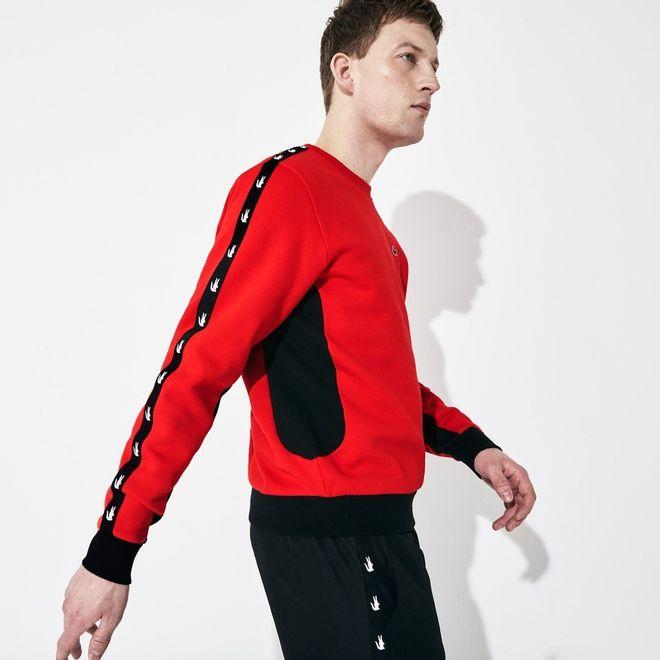 Afbeelding van Lacoste Sweater Fleece Ronde Hals Rood