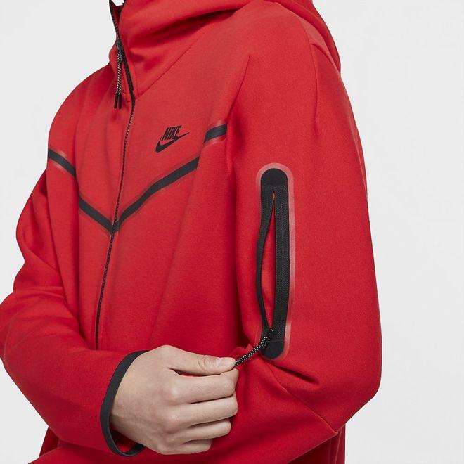 Afbeelding van Nike Sportswear Tech Fleece Hoodie University Red