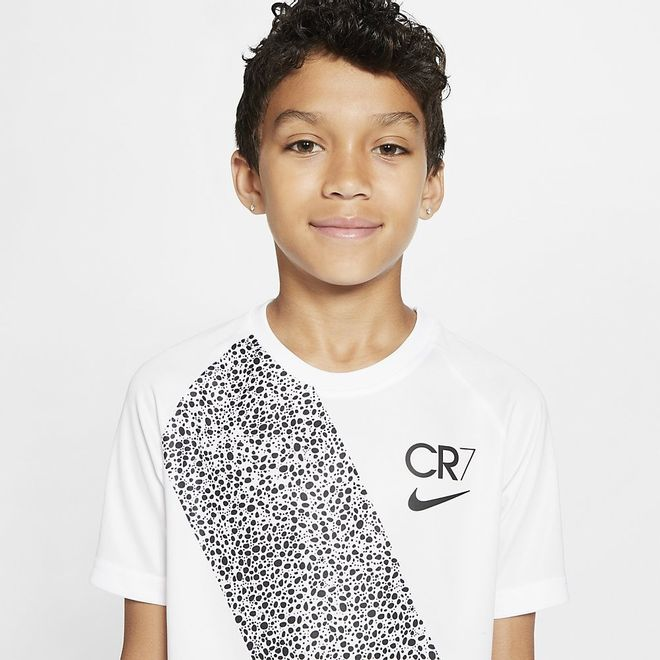 Afbeelding van Nike Dry Fit Set Kids CR7 White Black