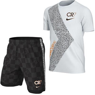 Foto van Nike Dry Fit Set Kids CR7 White Black