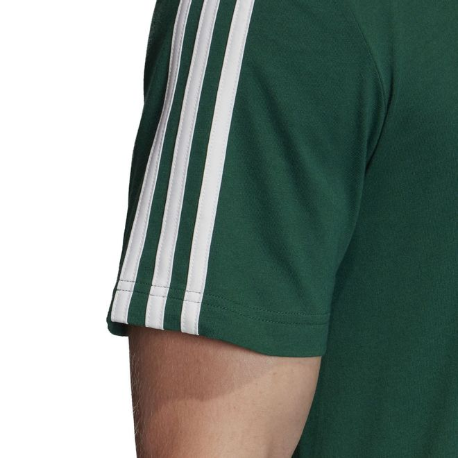 Afbeelding van Adidas Essentials 3 Stripes Set Collehiate Green
