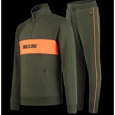 Foto van Malelions Sport Uraenium Tracksuit Army Neon Orange