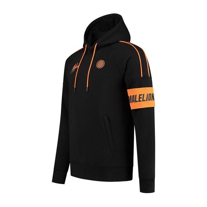 Afbeelding van Malelions Sport Coach Hoodie Set Black Neon Orange