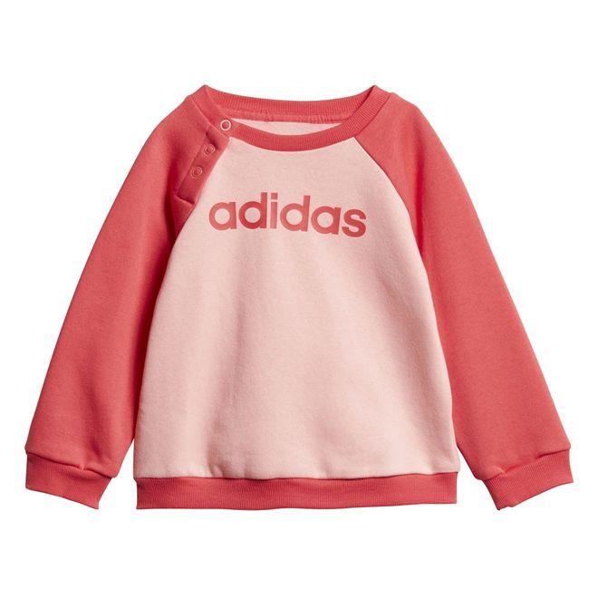 Afbeelding van Adidas Linear Fleece Joggingpak Infants Glory Pink