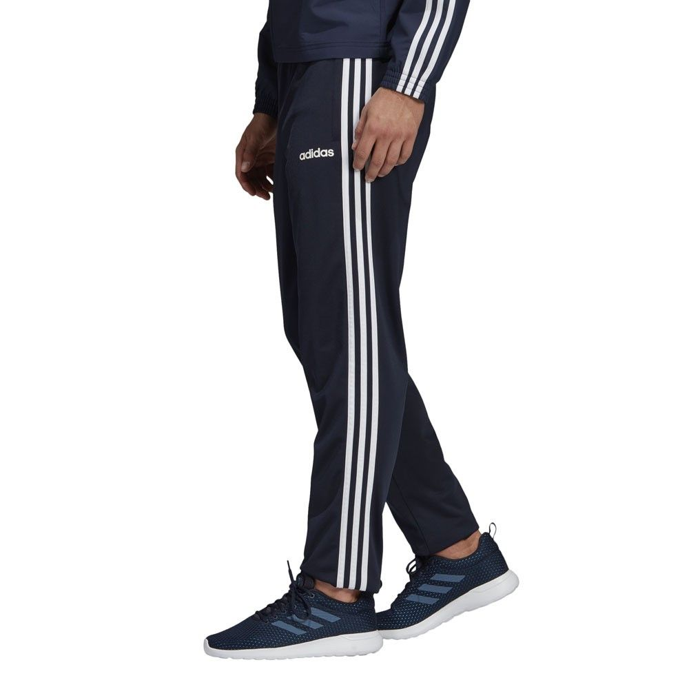 Adidas Essentials 3 Stripes Trainingspak Blauw