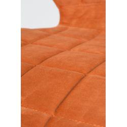 Zuiver OMG Stoel Oranje Velvet