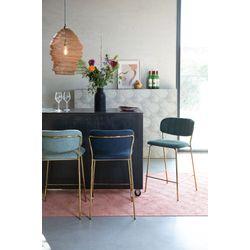 White Label Living Counter Stool Jolien Gold/Light Green
