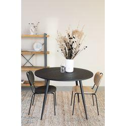 White Label Living Chair Aspen Wood Black