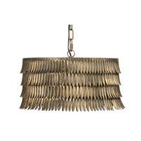 BePureHome Hawaii Hanglamp Rond Metaal Antique Brass