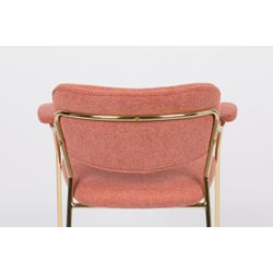 White Label Living Armchair Jolien Gold/Pink