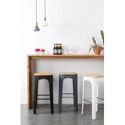 White Label Living Barstool Up-High Dark Grey