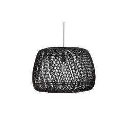 Woood Exclusive Moza Hanglamp Bamboe Zwart 70x70cm