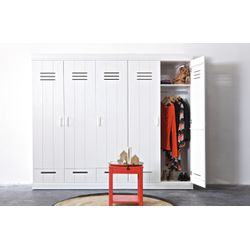 Woood Connect Kast Wit - 3 Deurs, Locker + Lade