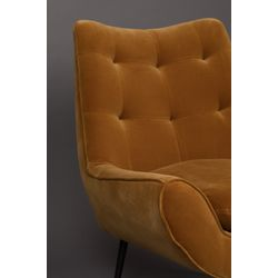 Dutchbone Glodis Lounge Chair Whiskey