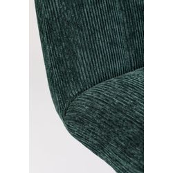 White Label Living Lounge Chair Belmond Rib Green