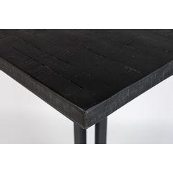White Label Living Bistro Table Maze Square Black